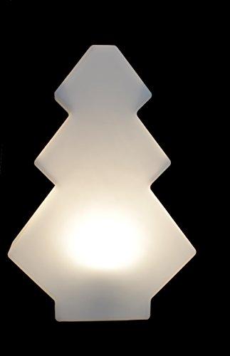 Gartenleuchte Figur Tanne 60cm weiß inkl. 5m Kabel inkl. LED Leuchtmittel IP65 TG7233