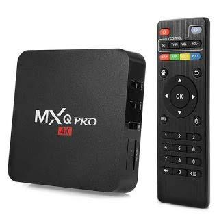 Generic MXQ Pro 4K Plus 1GB RAM 8 Bit Quad Core WiFi UHD 1080p Android Smart TV Box (Black)