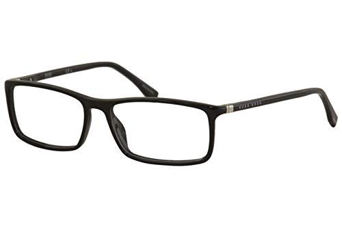 Hugo Boss Brillengestelle BOSS0680-807-55 Rechteckig Brillengestelle 55, Schwarz