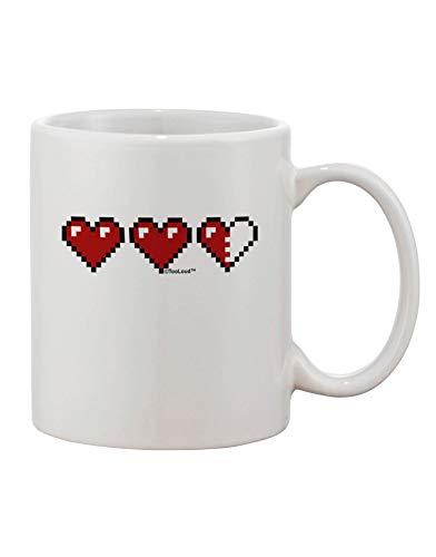 N\A Couples Pixel Heart Life Bar - Taza de café Impresa a la Izquierda