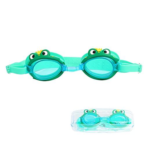 2 gafas de natación para niños con clip de nariz adicional, sin fugas, antivaho, gafas de natación UV, visión amplia para adolescentes de 3 a 12 años