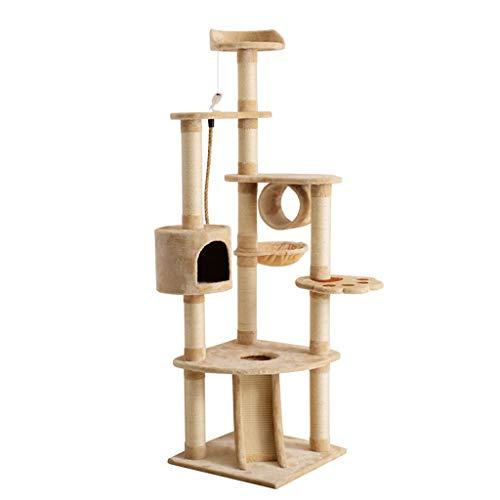 jixi Kratzbaum für Katzen, große Katzentürme, Kratzbaum, Spielzeuge für den Innenbereich, Kletter-Kratzbaum