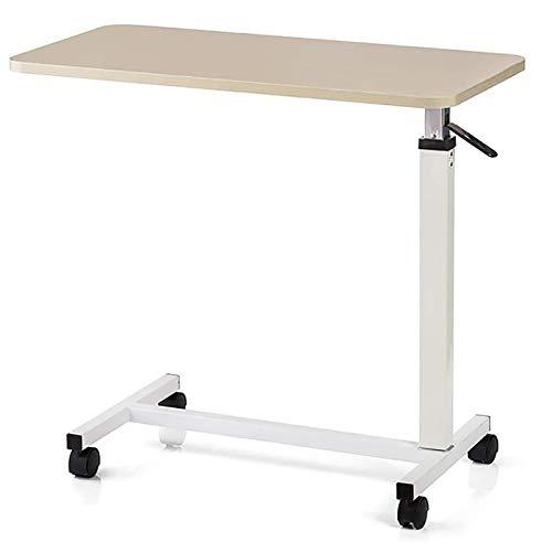 ZZYYZZ Mesa de Cama médica hospitalaria Ajustable, Mesa Auxiliar con sofá móvil con Ruedas, para Leer, Comer, postrado en Cama, Ancianos, Ayuda para Pacientes Mayores