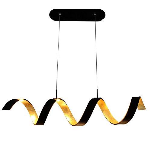 COB LED plafonnier suspension lampe murale lampe de table lampes de table lampe de table éclairage en spirale Chaque COB LED puissance 3W (extérieur noir intérieur doré), S