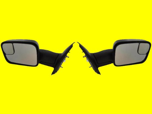 Best Price Mirror Dodge Ram Truck Power Tow Side View Mirror Pair, Black