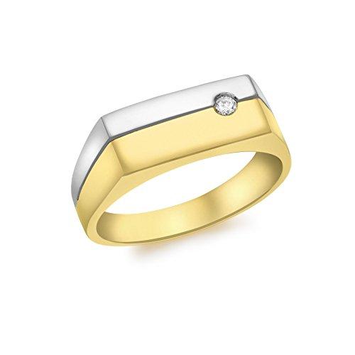 Carissima Gold Anillo de hombre con oro amarillo 9 K (375) y diamante - Tamaño 21