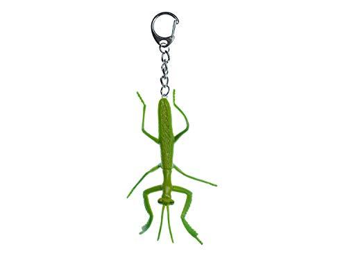 Miniblings Gottesanbeterin Schlüsselanhänger Insekt Halloween - Handmade Modeschmuck I I Anhänger Schlüsselring Schlüsselband Keyring