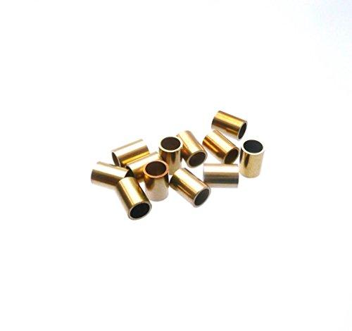 Messinghülsen 5,5 mm lang / 4 mm ä.Ø x 3,1 mm i.Ø (50 Stück)