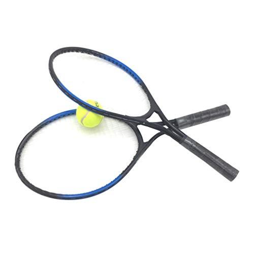 LIOOBO Badminton in Lega Set da Tennis Racchette da Tennis Palla da Tennis Sport Allaria Aperta al Coperto Gioca Giochi per Bambini Bambini (Nero)
