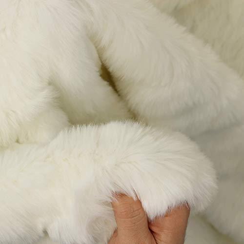 kawenSTOFFE Premium Pelzimitat Eisbär weich warm flauschig 3cm Haare Fellimitat Meterware