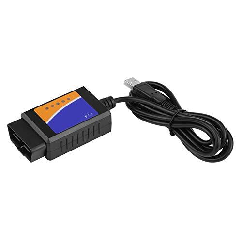 Belissy Conector USB de Coche V1.5 OBD2 Escáner de Interfaz del Cable de diagnóstico para Benz B-M-W Citroen