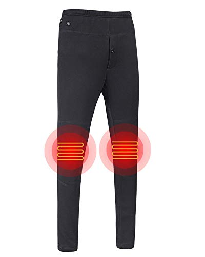 Letsfree USB Heated Pants Women Rechargeable Insulated Pants Men Heated Slim Fit Heated Baselayer Pants