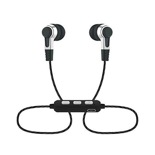 Yowablo Hängender Hals Drahtgesteuerter In-Ear-Bass Kopfhörer mit guter Klangqualität ( Weiß )