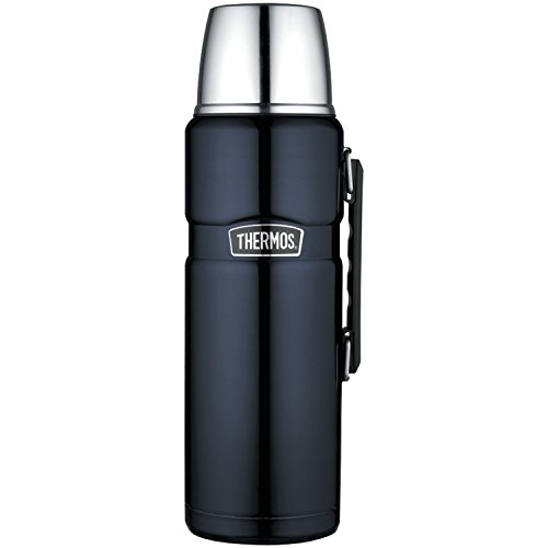 THERMOS Stainless King Beverage Bottle, 68 Ounce, Midnight Blue