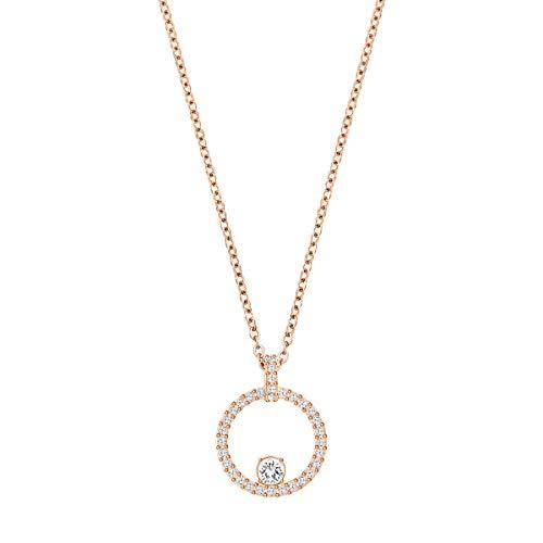 Swarovski Pendente Creativity Circle, Bianco, Placcato Oro Rosa