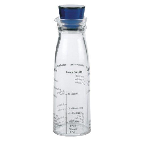Leopold Vienna LV00401 - Mezclador de vinagretas para ensalada con tapa azul, 300 ml
