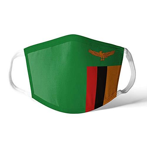 M&schutz Maske Stoffmaske Klein Afrika Flagge Sambia Wiederverwendbar Waschbar Weiches Baumwollgefühl Polyester Fabrik