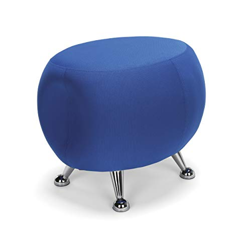 OFM Core Collection Jupiter Series Fabric Ball Stool, in Blue