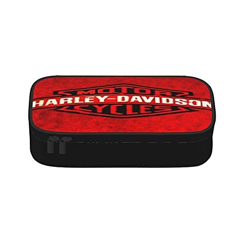 Estuche para lápices Harley Davidson de gran capacidad, compartimentos para lápices, organizador de escritorio, papelería para artículos escolares y de oficina