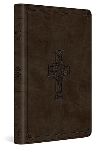 ESV Large Print Value Thinline Bible (TruTone, Olive, Celtic Cross Design)