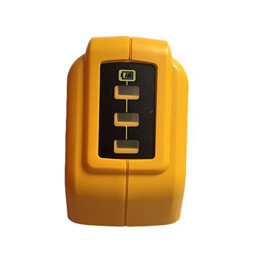 Elegantamazing DCB090 - Cargador USB convertidor de batería para DeWalt (14,4 V, 18 V, 20 V, ión de Litio)