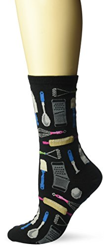 Hot Sox Women's Novelty Occupation Casual Crew, Kitchen Utensils (hemp Heather), Shoe Size: 4-10 (Sock Size: 9-11)