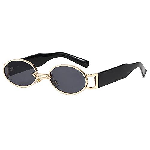 Gafas de sol hombres y mujeres ronda personalidad europea y americana tinta femenina INS marea retro gafas de sol-marco dorado