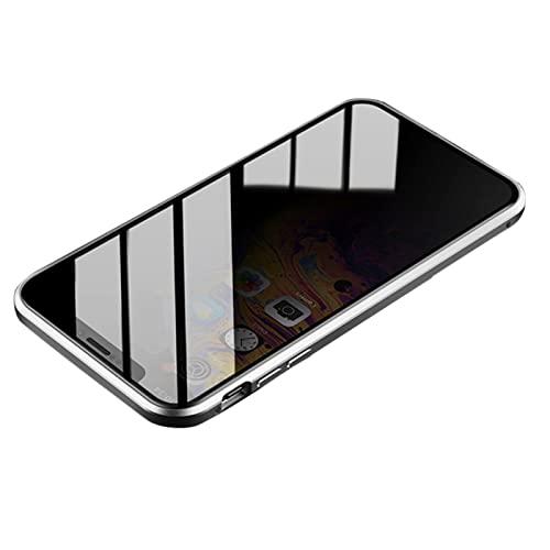 Auleset Caja magnética antideslumbrante del teléfono de cristal templado para el iPhone 7 8 Plus X XR XS Max - Plata para el iPhone 7 Plus/8 Plus