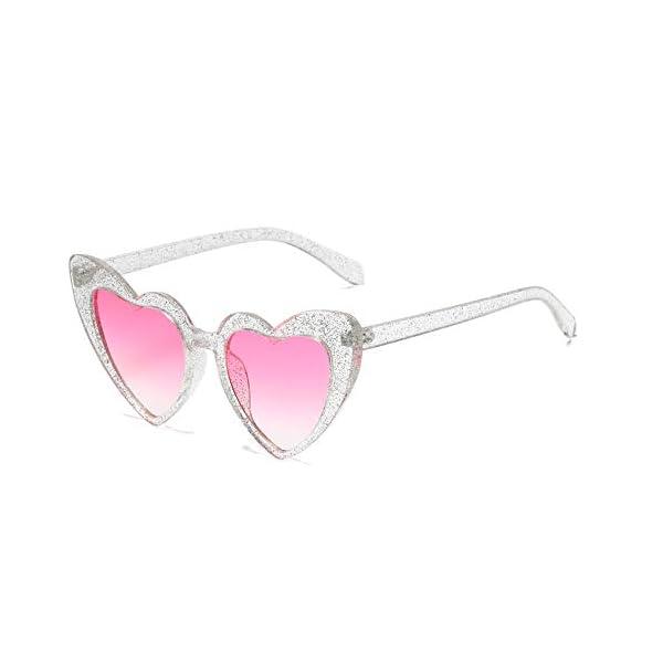 YOSHYA Clout Goggle Heart Sunglasses Vintage Cat Eye Mod Style Retro Kurt Cobain Glasses