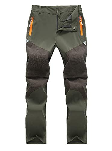 CAMLAKEE Pantaloni funzionali per bambini e bambine, 2 in 1, estivi, Unisex - Bambini, verde militare, 150