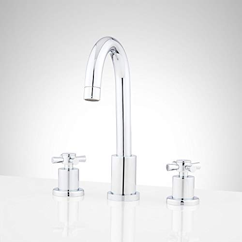 Signature Hardware 948594 Milazzo 1.5 GPM Widespread Bathroom Faucet with Pop-Up Drain Assembly