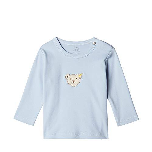 Steiff Langarm T-Shirt À Manches Longues, Bleu (Chambray Blue 6035), 58 (Taille Fabricant: 56) Bébé garçon