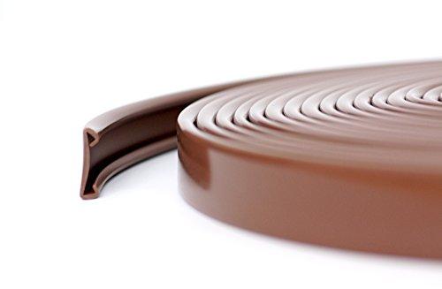 1m PVC Kunststoff Handlauf Treppenhandlauf 40x8 mm viele Farben (braun)