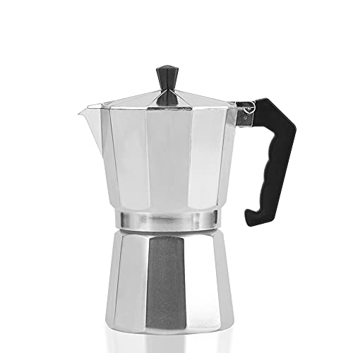 Herd Espressomaschine, italienische Kaffeemaschine Moka Pot, klassische italienische Espresso Moka Pot, Moka Express Aluminium Herd Kaffeemaschine (150ml(3 Tasse))