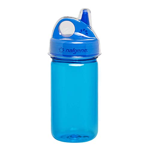 Product Image of the NALGENE Tritan Grip-N-Gulp BPA-Free Water Bottle,Slate Blue,12 Ounces