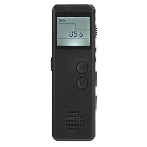 PUSOKEI Grabadora de Voz Digital, Mini grabadora de Voz Digital portátil Reproductor de MP3 Dispositivo de grabación de Sonido de Audio, Un botón para operar