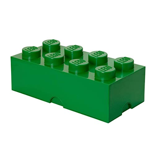 Room Copenhagen 8 Lego Brick Box, Dark Green