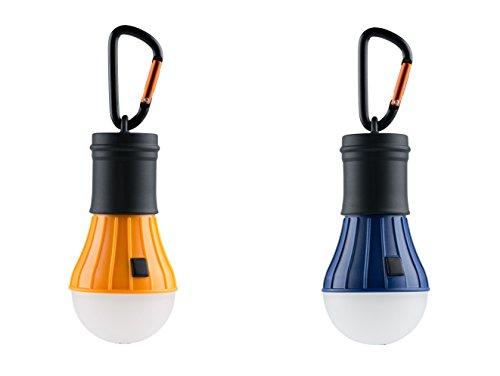 AceCamp 2 x Camping Accessories, Zubehör, Hochwertige LED Campinglampe, Lantern Light, Wasserdicht ohne Strom, Doppelpack, Orange Blau, 102836-ace