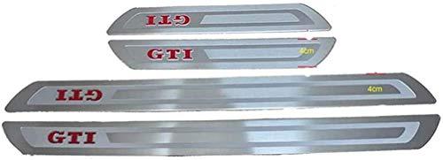 WanMei 4 Pcs Coche Acero Inoxidable Protector Umbral Puerta para Volkswagen VW Golf GTI, Pegatinas Cubierta Película Antipatada Accesorios