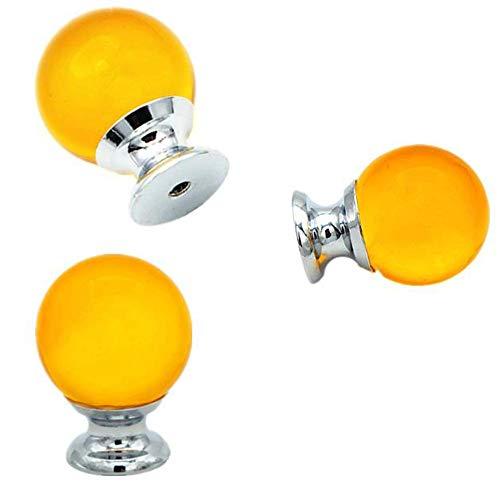Deurgesp Pack / 10 stuks 25 mm ronde kast commode juwelendoos helder glas bal grepen lade knoppen trekken + schroeven, kast hardware