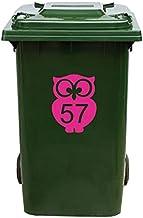 Kliko Sticker/Vuilnisbak Sticker - Nummer 57-17 x 22 - Roze