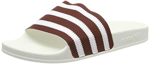 adidas Adilette, Herren Pantoffeln, Rot (Collegiate Burgundy/Ftwr White/Off White Collegiate Burgundy/Ftwr White/Off White), 38 EU (5 UK)