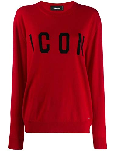 Luxury Fashion | Dsquared2 Dames S75HA0905S16813963 Rood Wol Truien | Herfst-winter 19