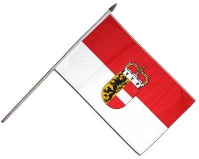 Flaggenfritze Stockflagge Österreich Salzburg - 30 x 45 cm