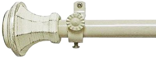 Achim Home Furnishings RODCAR2848 Carson Buono II Rod Finial, 28-Inch Extends to 48 Inch Inch