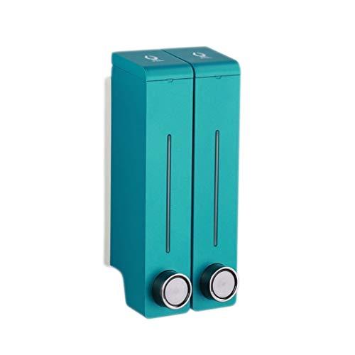 Dispensadores de Loción y de Jabón Dispensador de jabón de dos cámaras Montado en la pared Dispensador de jabón de bomba for fregadero de cocina y baño de cabello Champú Gel de ducha 2x10.6 oz Dispens