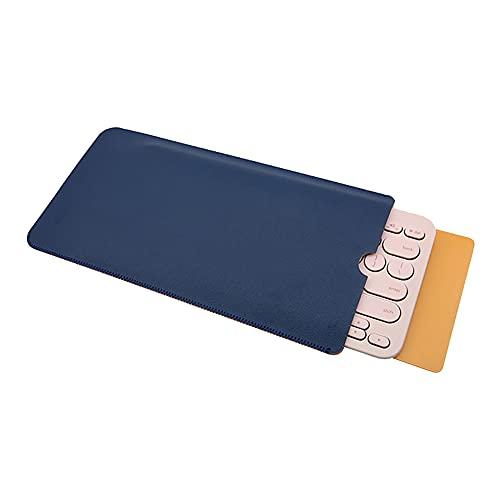 Funda para teclado compatible con teclado inalámbrico Logitech K380 Bluetooth, piel sintética, funda protectora de viaje, compatible con Logitech K380, no incluye teclado (azul profundo), colo