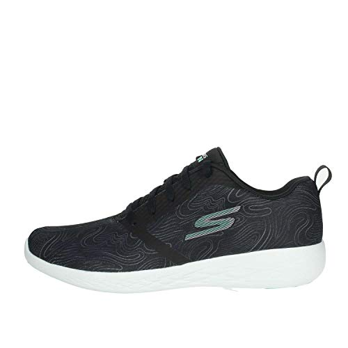 Skechers Womens Go Run 600 Liberate Running Shoes (9 M US, Black/Aqua)
