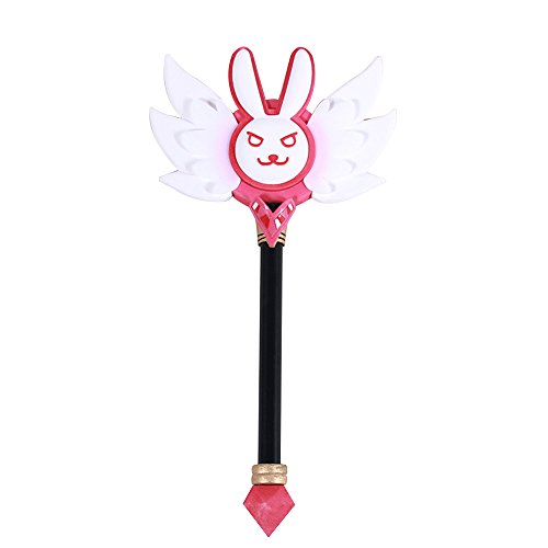 Mtxc Video Game Prop Magical Girl D.VA Cosplay Prop Toy Weapon Scepter Pink