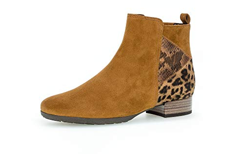 Gabor Damen Stiefeletten, Frauen Ankle Boots,Comfort-Mehrweite,Reißverschluss, Women's Women Woman Boots Stiefel Bootee,Deer (Micro),38.5 EU / 5.5 UK